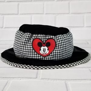 Mickey & Co Vintage Black Velour/Gingham Hat